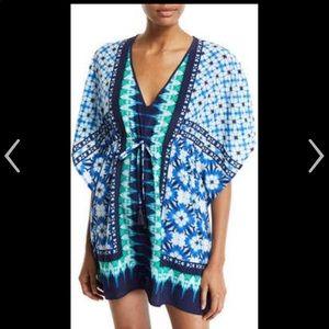 Tommy Bahama NWT tie dye seashells swim tunic S/M